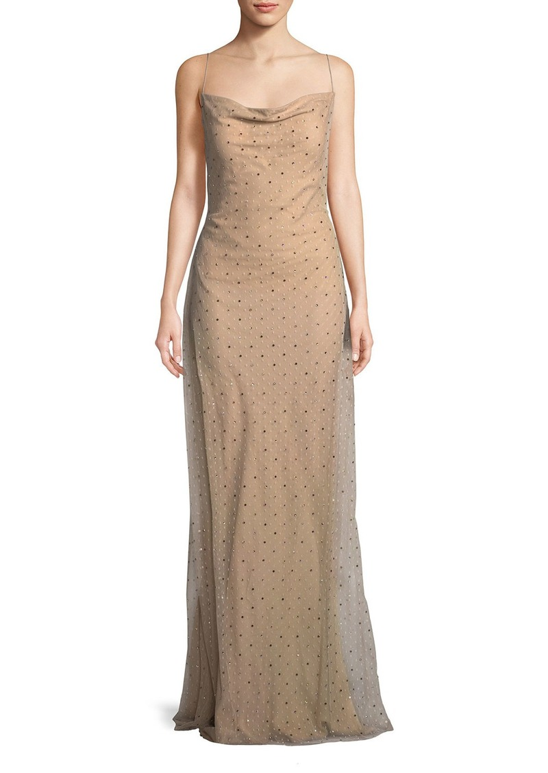 Jason Wu Jason Wu Point d\'Esprit Cowl-Neck Slip Evening Gown with ...