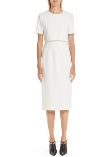 Jason Wu Popover Compact Crepe Sheath Dress