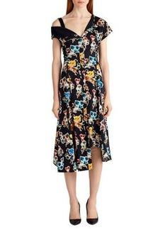 Jason Wu Printed Cotton Off-Shoulder Dress