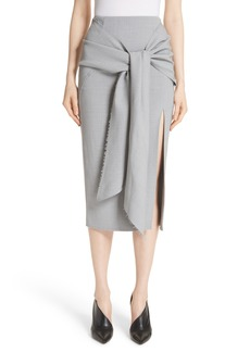 Jason Wu Raw Hem Tie Front Skirt