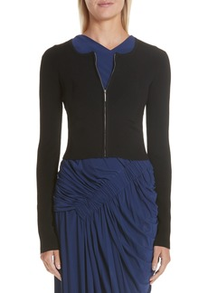 Jason Wu Ribbed Zip Cardigan