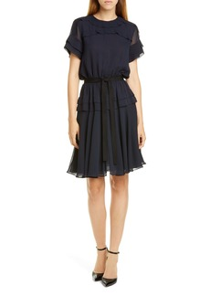 Jason Wu Ruffle Crinkled Chiffon Dress