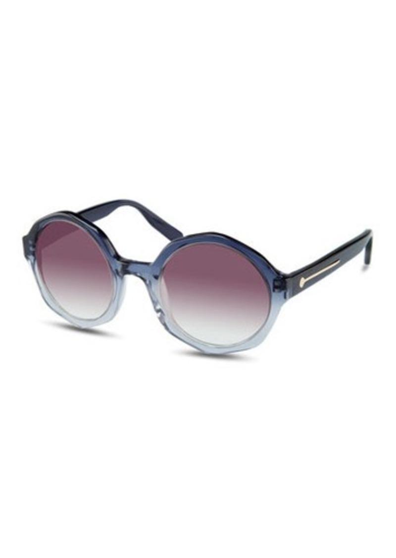 Jason Wu Sarai Faceted Round Acetate Sunglasses