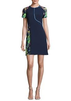 Jason Wu Short-Sleeve Floral Jacquard Sheath Dress
