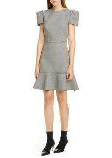 Jason Wu Short Sleeve Houndstooth Dress