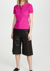 Jason Wu Short Sleeve Knitted Polo Shirt