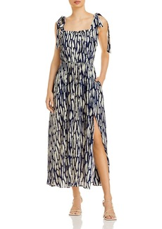 Jason Wu Shoulder Tie Print Maxi Dress