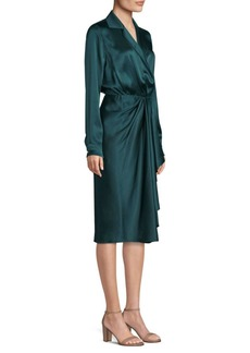 Jason Wu Silk Charmeuse Wrap Dress