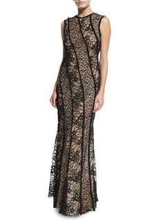 Jason Wu Sleeveless Corded Lace Gown