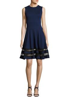 Jason Wu Sleeveless Ponte Lace-Trim Dress