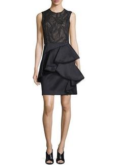 Jason Wu Sleeveless Ruffle-Skirt Cocktail Dress