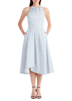 Jason Wu Sleeveless Shirting Fabric Apron Dress