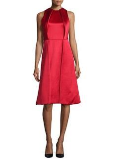 Jason Wu Sleeveless Twill Pleated-Front Dress