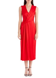 Jason Wu Sleeveless Wrap-Front Crepe Cocktail Dress