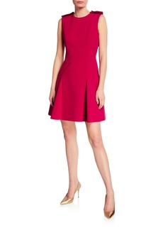 Jason Wu Collection Stretch Crepe Godet Mini Dress