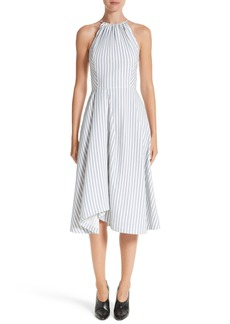 Jason Wu Stripe Shirting Apron Day Dress
