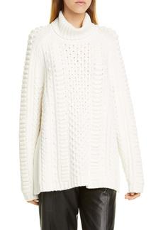 Jason Wu Turtleneck Wool Blend Sweater