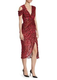 Jason Wu Velvet V-Neck Midi Dress