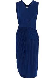 Jason Wu Woman Asymmetric Draped Stretch-jersey Dress Blue