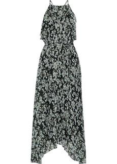 Jason Wu Woman Asymmetric Floral-print Silk-blend Georgette Maxi Dress Black