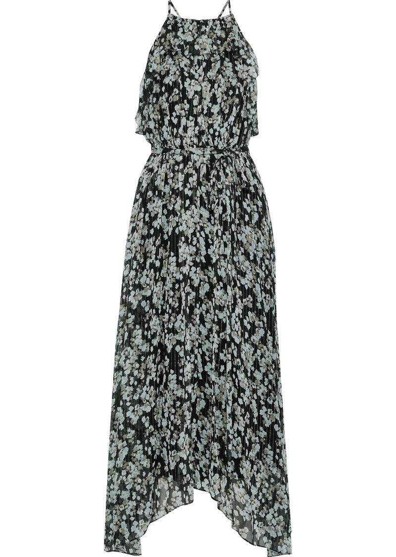 Jason Wu Woman Asymmetric Floral-print Silk-blend Georgette Maxi Dress Black