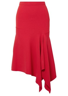 Jason Wu Collection Woman Asymmetric Stretch-ponte Midi Skirt Red