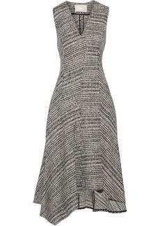 Jason Wu Woman Asymmetric Wool-jacquard Midi Dress Gray