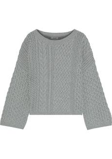 Jason Wu Woman Cable-knit Cotton-blend Sweater Gray
