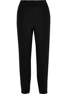 Jason Wu Woman Canvas-trimmed Crepe Tapered Pants Black