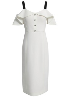 Jason Wu Collection Woman Cold-shoulder Ruffled Neoprene Dress Ivory