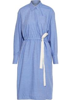 Jason Wu Woman Cotton-chambray Wrap Dress Light Blue