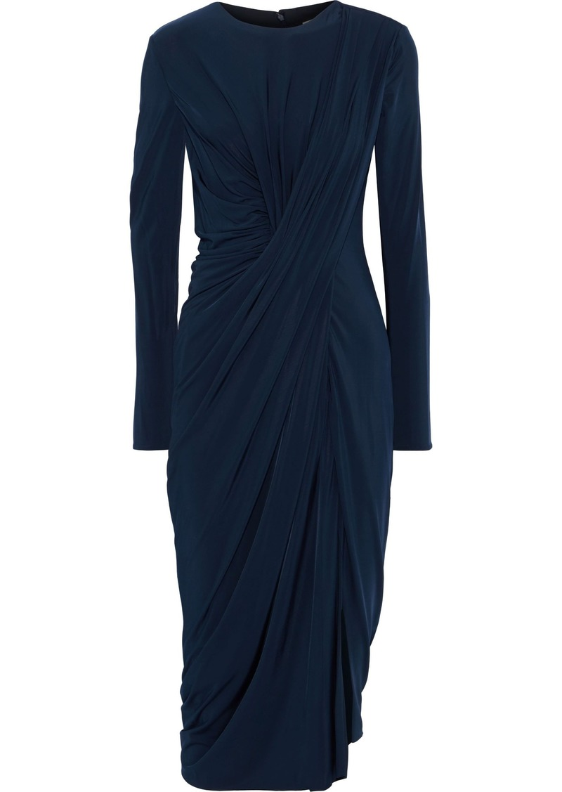 Jason Wu Woman Draped Stretch-jersey Dress Navy