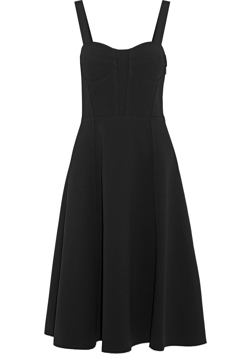 Jason Wu Woman Flared Cady Dress Black