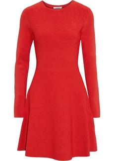 Jason Wu Woman Flared Pointelle-knit Mini Dress Red