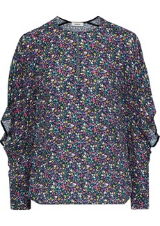 Jason Wu Woman Floral-print Crepe Blouse Multicolor