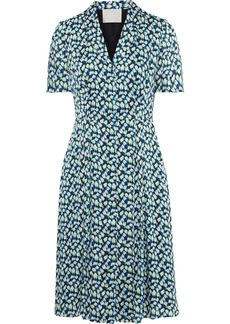 Jason Wu Woman Floral-print Georgette Dress Light Blue