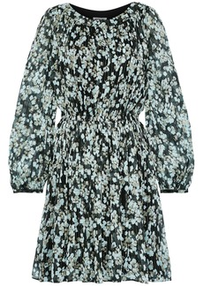Jason Wu Woman Floral-print Metallic Silk-blend Georgette Mini Dress Black