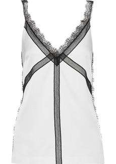 Jason Wu Woman Lace-trimmed Charmeuse Camisole White