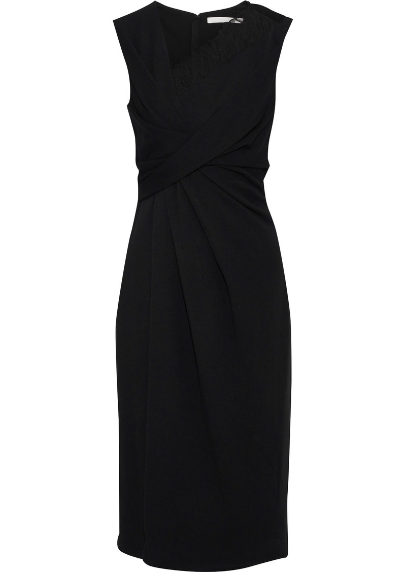Jason Wu Woman Lace-trimmed Cady Dress Black