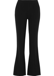 Jason Wu Woman Lace-trimmed Stretch-crepe Flared Pants Black