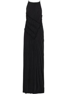 Jason Wu Woman Open-back Ruched Stretch-jersey Gown Black