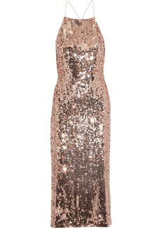 Jason Wu Woman Open-back Sequined Satin Dress Rose Gold