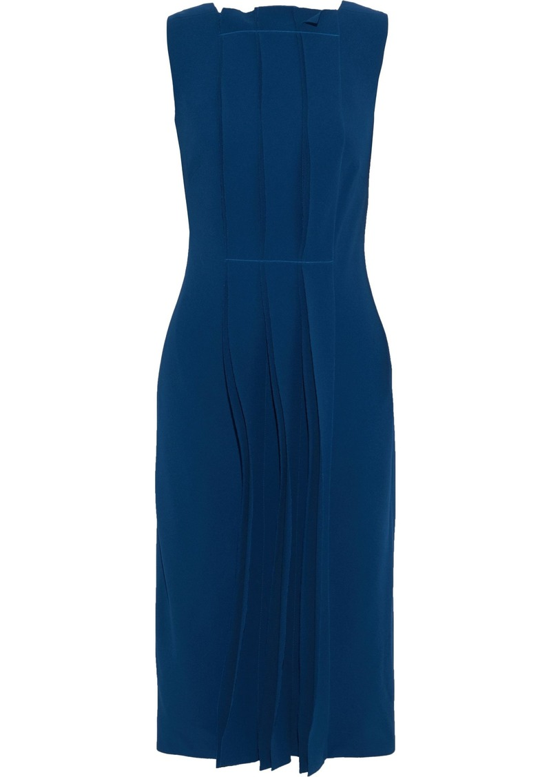 Jason Wu Woman Pleated Crepe Dress Navy