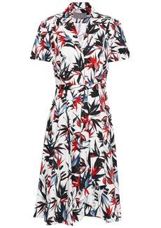 Jason Wu Woman Pleated Floral-print Cotton-poplin Shirt Dress Ivory