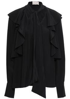 Jason Wu Woman Pussy-bow Ruffled Silk Crepe De Chine Blouse Black