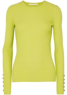 Jason Wu Woman Ribbed Cashmere And Silk-blend Sweater Lime Green
