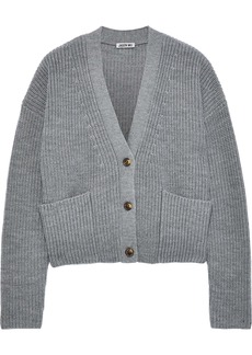 Jason Wu Woman Ribbed Wool Cardigan Gray
