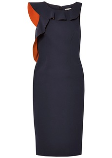 Jason Wu Woman Ruffled Crepe Dress Navy