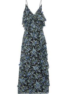 Jason Wu Woman Ruffled Floral-appliquéd Embroidered Organza Gown Black