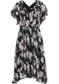 Jason Wu Woman Ruffled Floral-print Silk-georgette Dress Black